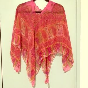 Silk poncho New from Echo